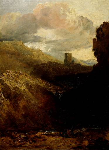 Dolbadarn Castle - Study for Diploma Picture ?1800-2 by Joseph Mallord William Turner 1775-1851